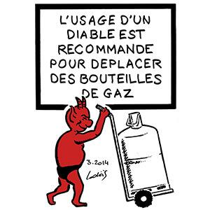 Diable et bouteille de gaz